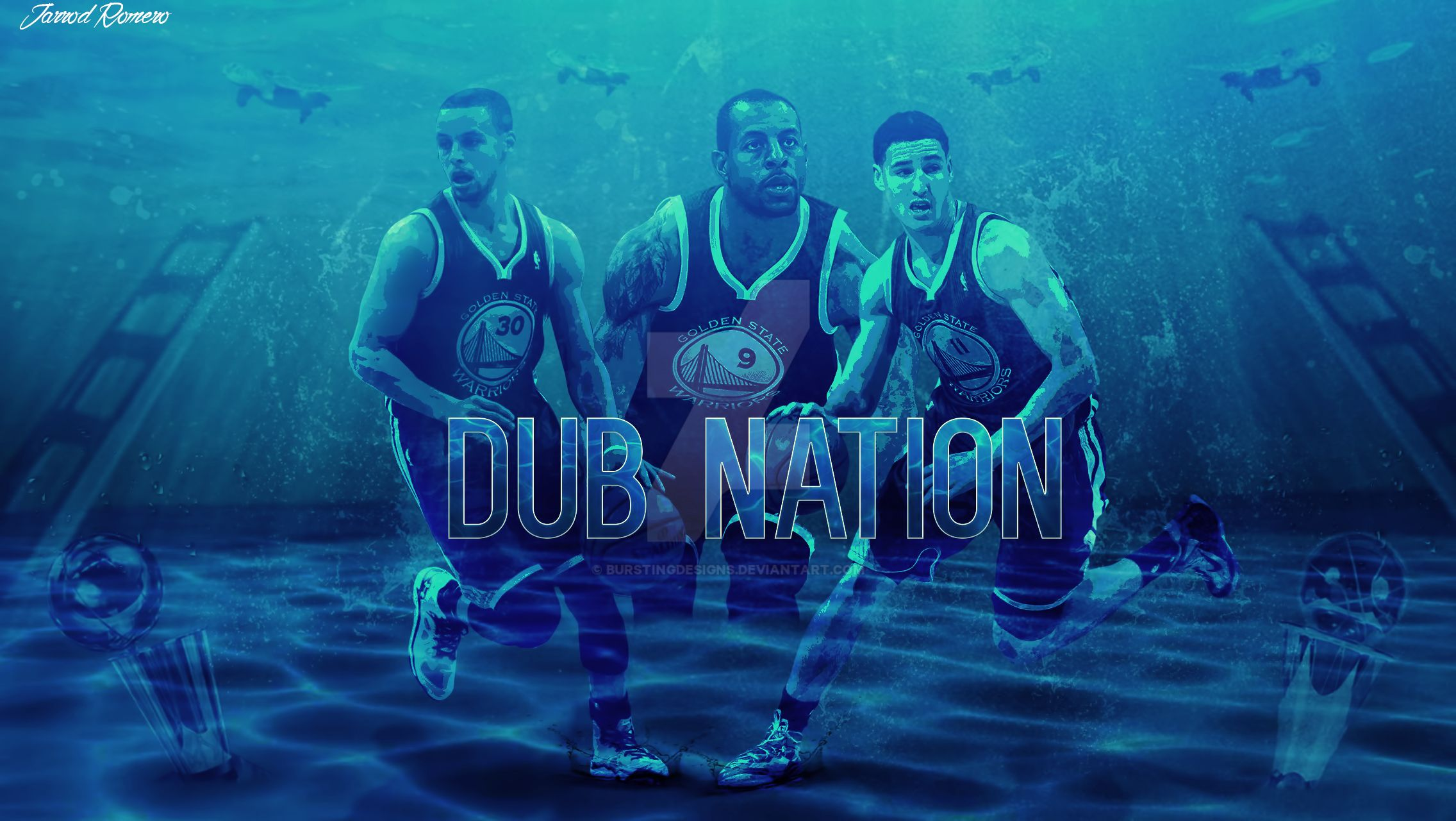 Golden State Warriors Wallpaper by burstingdesigns on ...