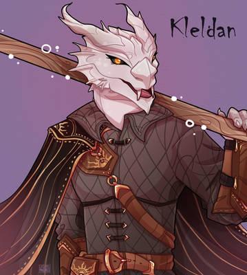 Kleldan, the Silver Dragonborn