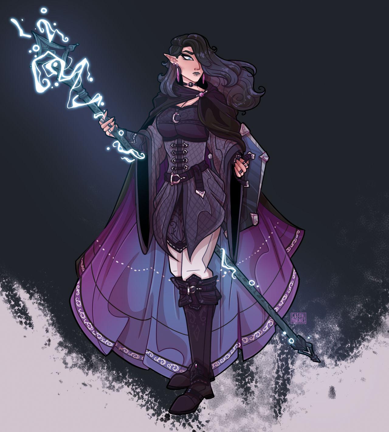 Gothic Elven Sorceress