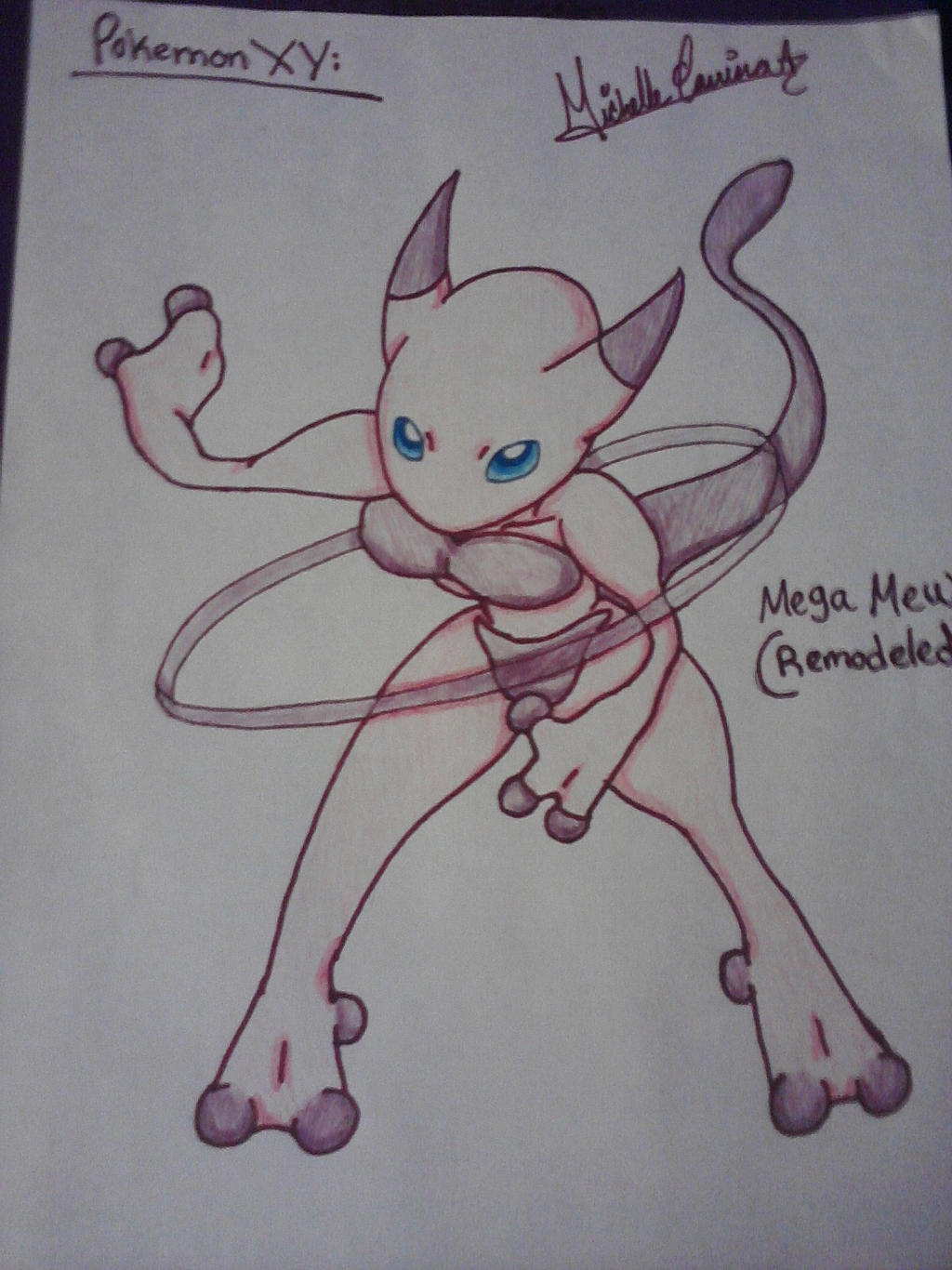 Pokemon XY: Mega Mew by ANGELxBIRD
