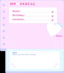 Fancy Profile Sheet Template