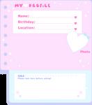 Pastel Profile Info Template