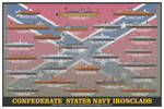 Confederate Navy Ironclads Print