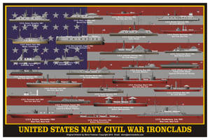 US Navy Civil War Ironclads by sfreeman421