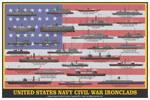 US Navy Civil War Ironclads Print
