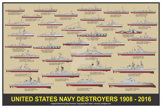US Navy Destroyers Print