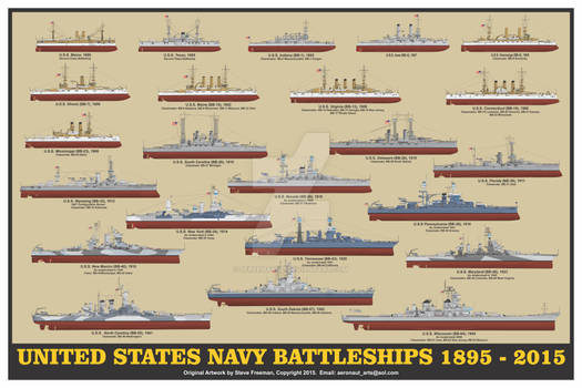 US Navy Battleships Print