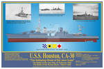 USS Houston, CA-30 Print