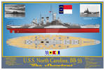 USS North Carolina, BB-55 Print