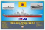 USS New Jersey, BB-62, 1945 Print