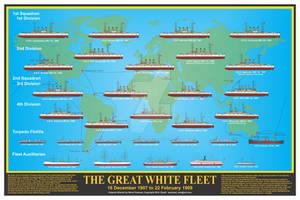 The Great White Fleet Print by sfreeman421