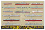 US Navy Aircraft Carriers 1922-2025 Print