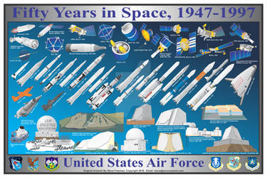 USAF 50 Years in Space, 1947-1997 Print