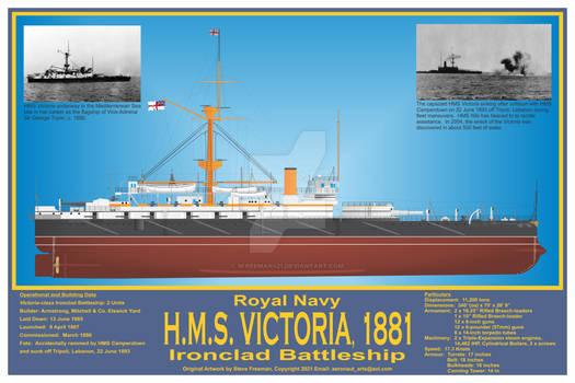 HMS Victoria, 1881 Print