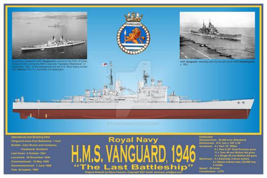 HMS Vanguard, 1946 'The Last Battleship' Print
