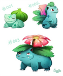 001, 002 and 003 (Pokemon Drawing Challenge)