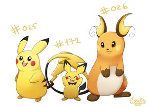 025, 026 and 172 (Pokemon Drawing Challenge)