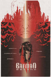 batman beyond poster print by oxNAMELESSxo