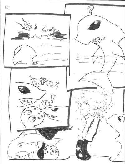 ChickenvsShark12 by caskippe