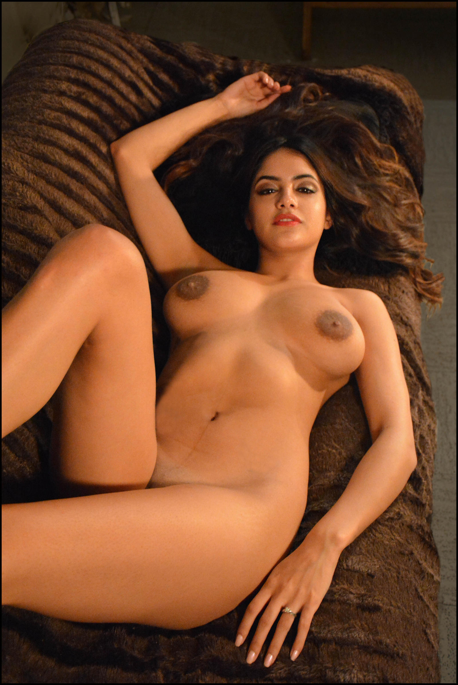 Beautiful indian shanaya babe stripping out of her lingerie
