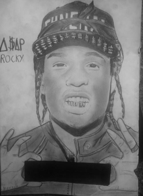 asap rocky drawing