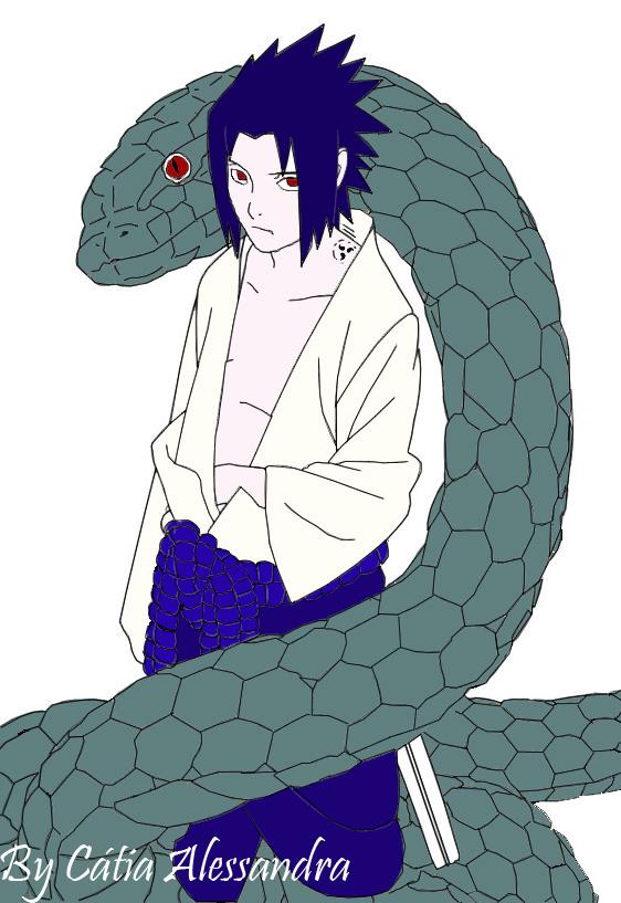Sasuke e a Cobra do Orochimaru by morticia-adams