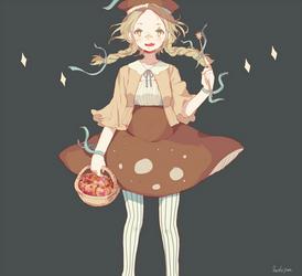 Mushroom dress!!! by Hoshi-Pan