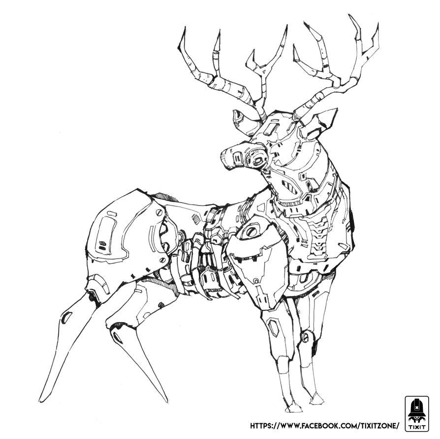 Deer of Steel by exmagicstorm