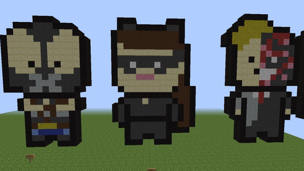 Top Result 58 Luxury Minecraft Pixel Art Templates Batman