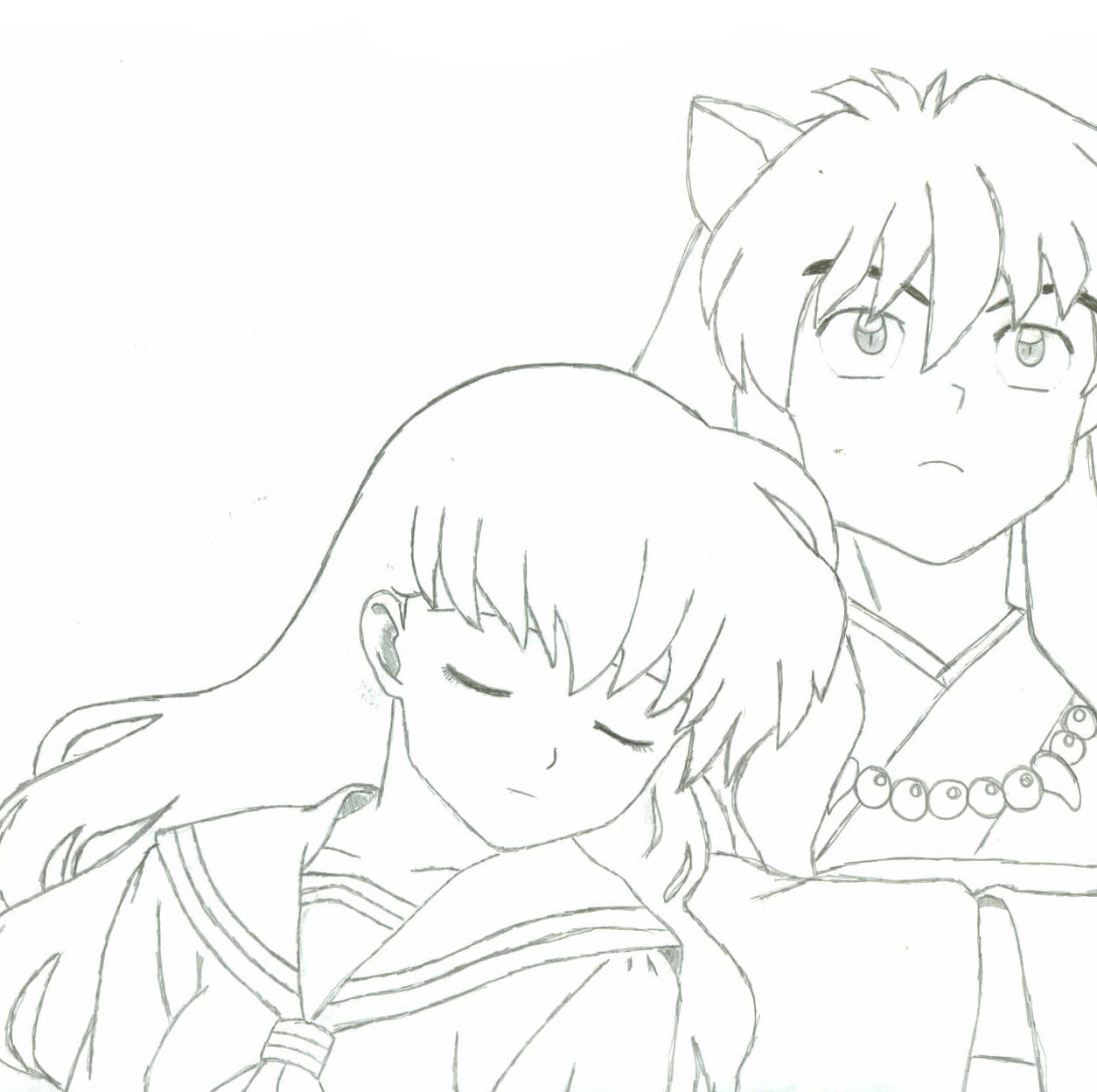 Inuyasha coloring book - Inuyasha And Kagome By Sexybluetoothbrush69 On Deviantart Download Image Inuyasha Coloring Book