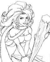 Ayla Sketch by Aerawen-Vanhouten