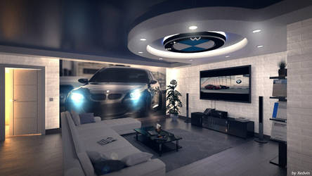 living room in BMW style