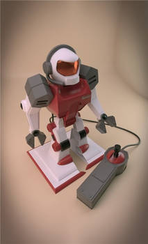 Toy robot with remote control
