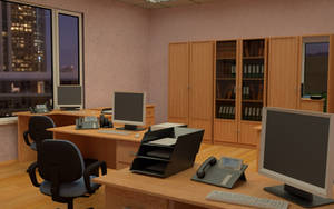 Evening office interior