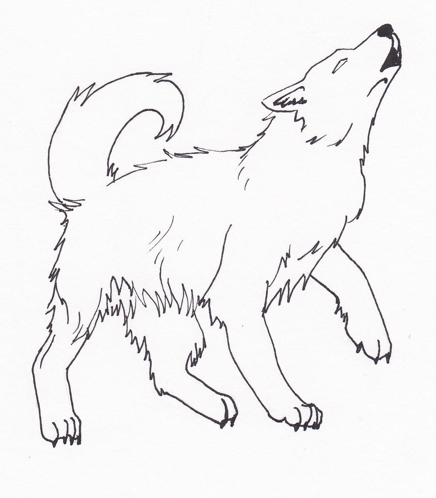 Wolf Howling Inked by froger-dog on DeviantArt