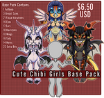 Cute Chibi Girls Base Pack - P2U