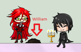 William Cockblocks Grell Shimeji by DarkwingFrog