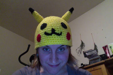Pikachu Hat Commission--SOLD by DarkwingFrog