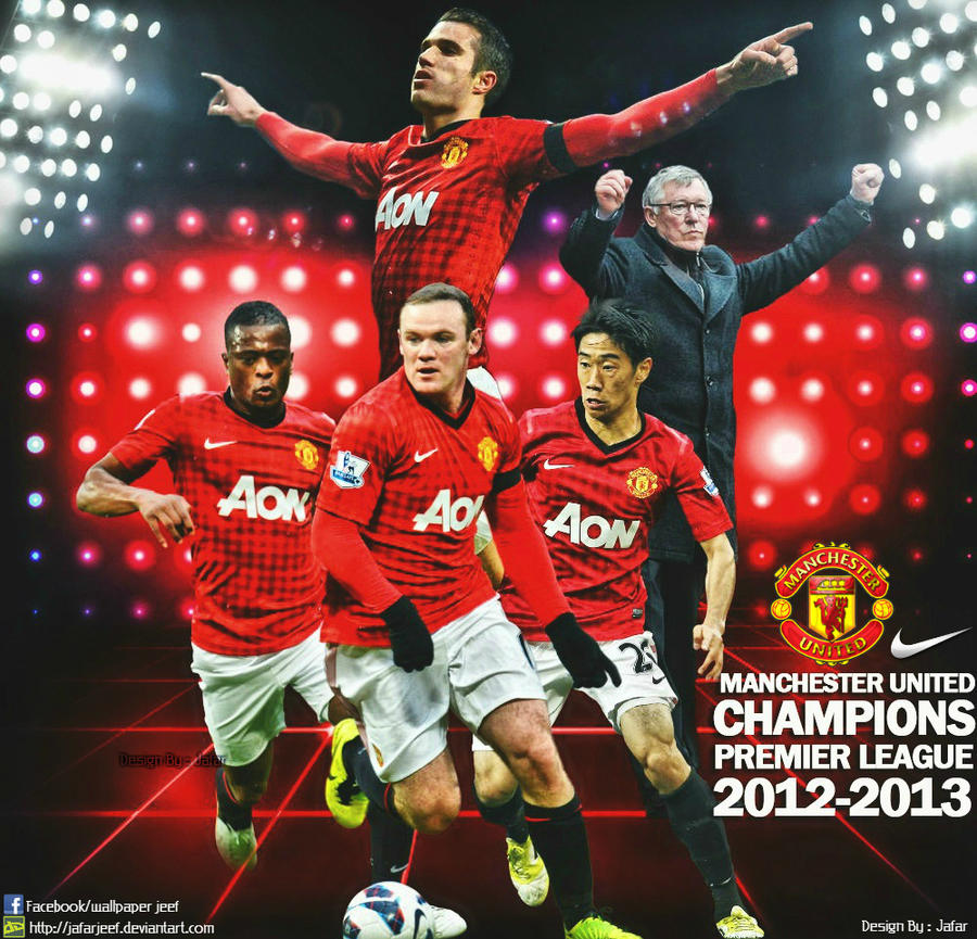 manchester united champions 2013 wallpaper by jafarjeef on
