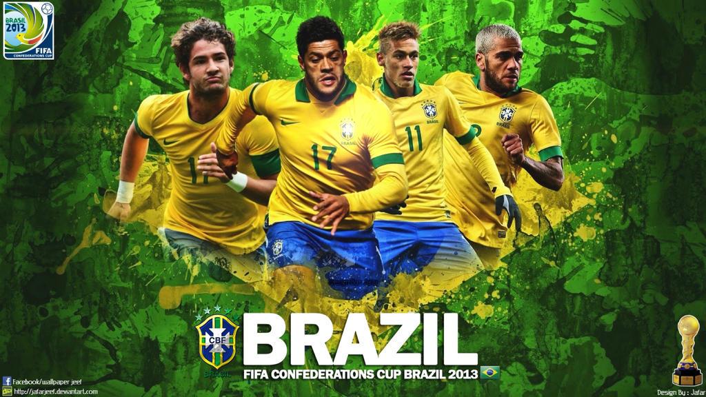 brazil football wallpaper by jafarjeef on deviantart