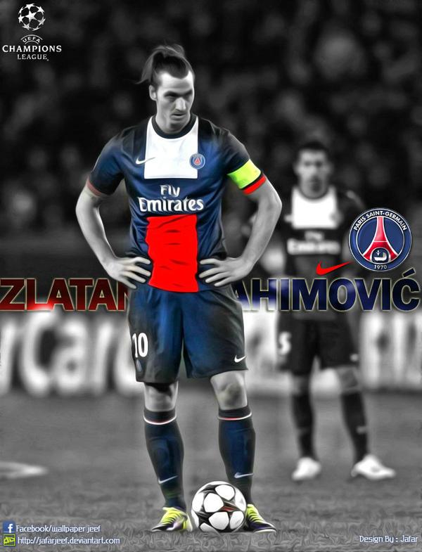 Zlatan Ibrahimovi PSG By Jafarjeef