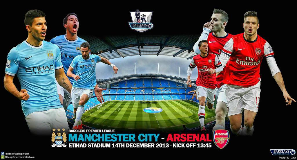 Manchester City v Arsenal Wallpaper by jafarjeef on DeviantArt
