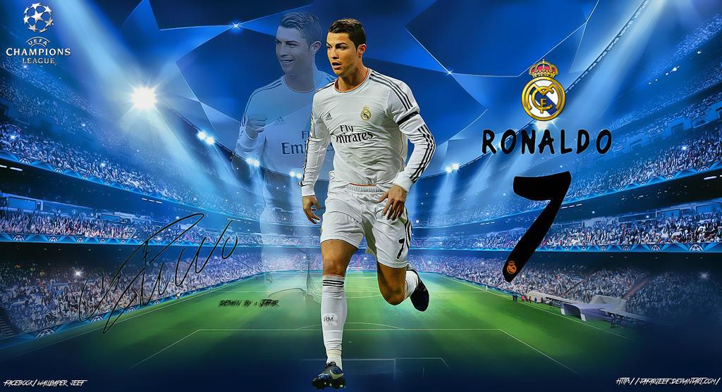 Cristiano Ronaldo Champions League Wallpaper By Jafarjeef