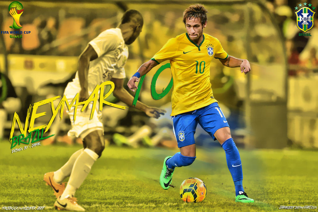 Neymar Brazil 2014 by jafarjeefNeymar Jr Brazil 2014