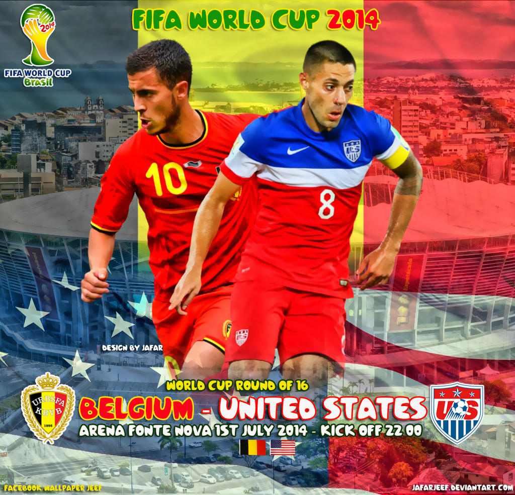 Belgium United States  city images : Belgium United States World Cup 2014 by jafarjeef on DeviantArt