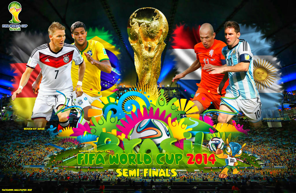 fifa world cup 2014 semifinals wallpaper by jafarjeef on