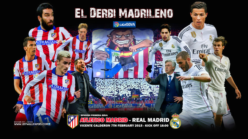 Atletico madrid real madrid wallpaper by jafarjeef on deviantart atletico madrid real madrid wallpaper by jafarjeef voltagebd Choice Image