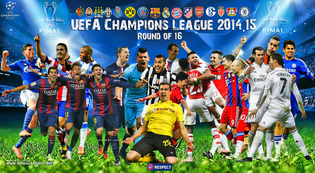 CHAMPIONS LEAGUE WALLPAPER 2015 ROUND OF 16 By Jafarjeef
