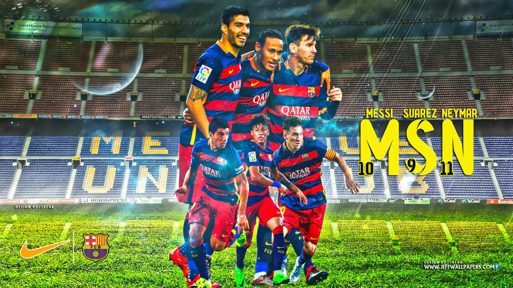 MSN FC BARCELONA WALLPAPER By Jafarjeef