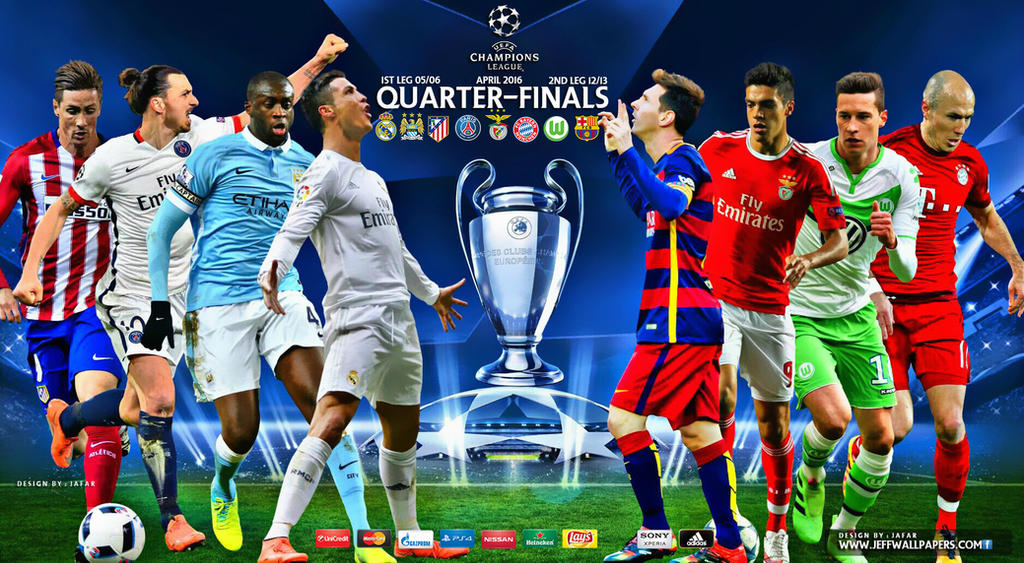 champions league quarter finals 2016 by jafarjeef on deviantart. Black Bedroom Furniture Sets. Home Design Ideas